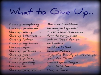 what-to-give-up